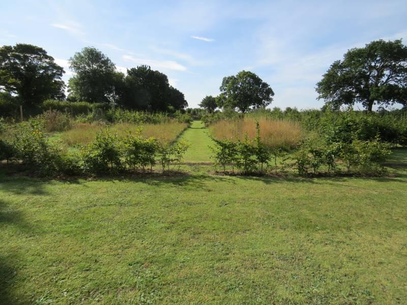 Round White Garden showing entrance - Sep 2013